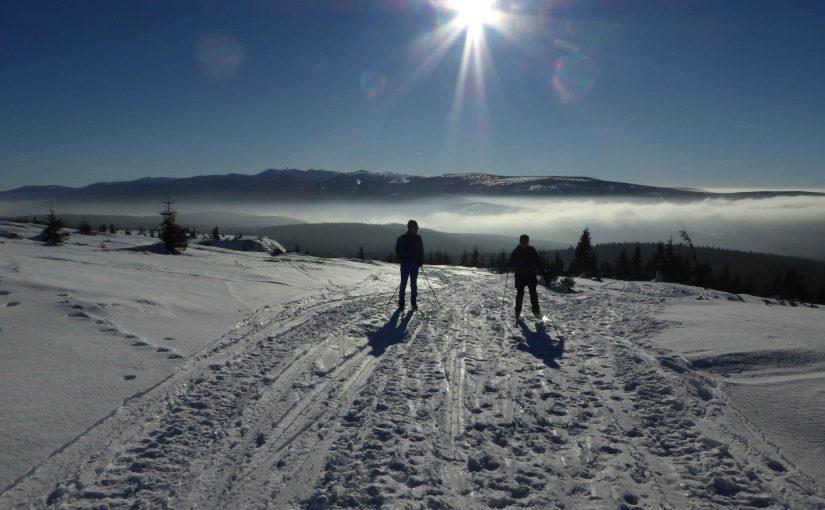 Skitour über den Wolken.